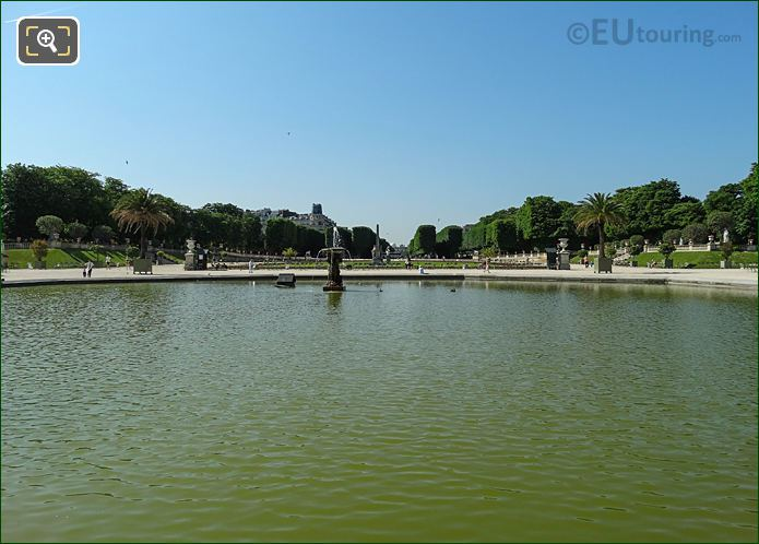 South View Over Grand Basin In Jardin Du Luxembourg