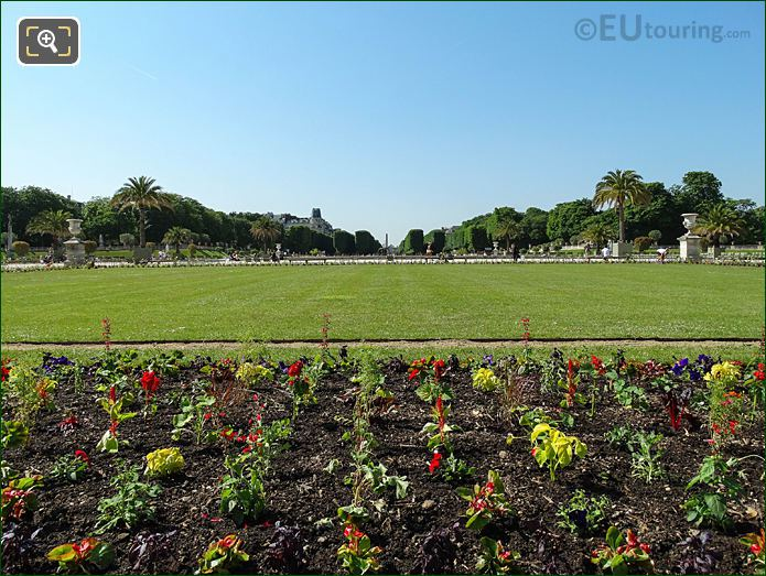 Jardin Du Luxembourg Central Garden Looking South