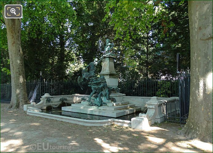 RH View Of Eugene Delacroix Monument And Fountain