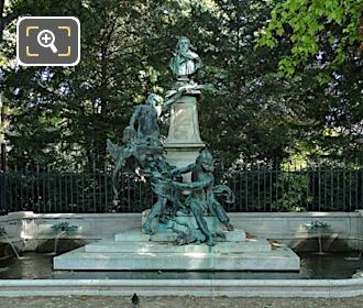 Eugene Delacroix Monument And Water Fountain