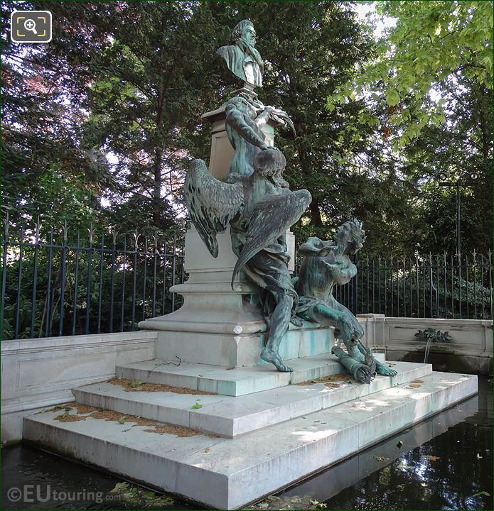 LHS Of Eugene Delacroix Monument In Luxembourg Grdns
