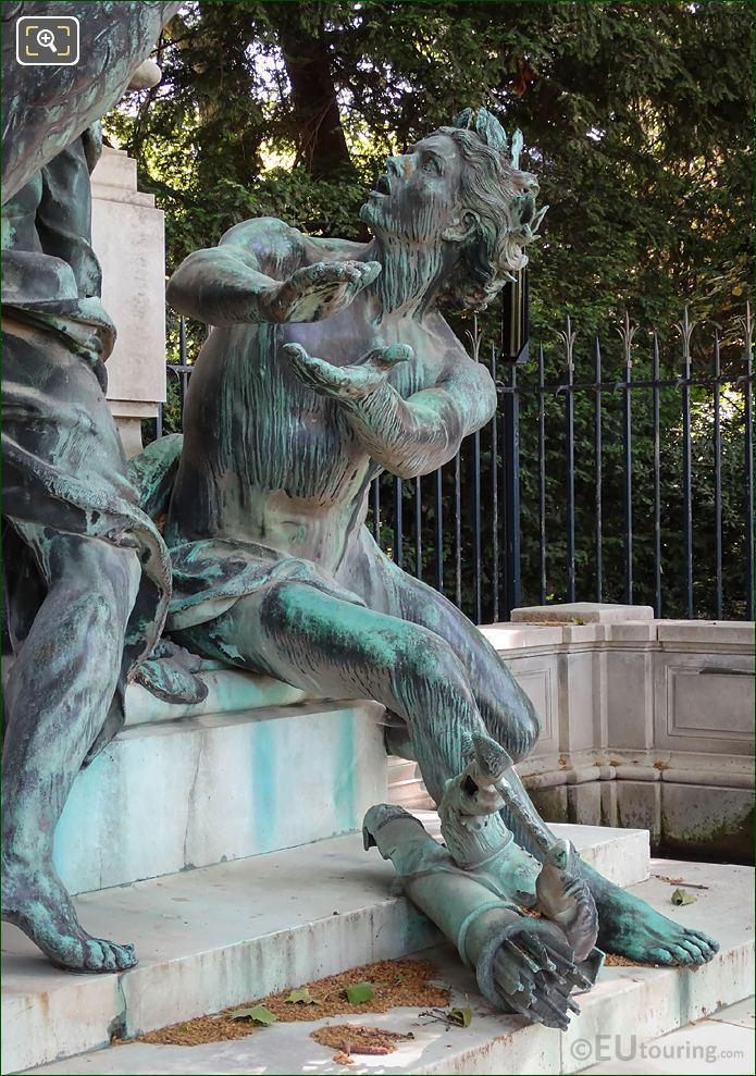 Genius Of Arts Statue By A Dalou On Eugene Delacroix Monument
