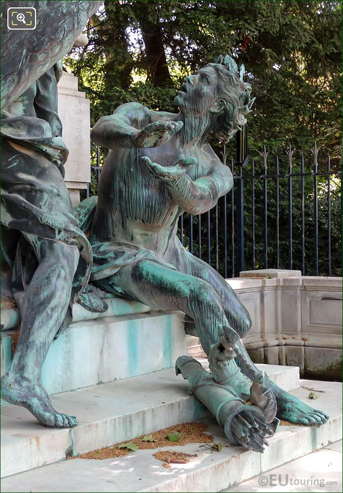 Jardin Du Luxembourg Statue Genius Of Arts On Delacroix Fountain