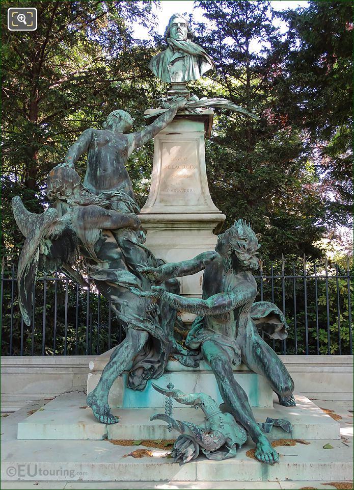 Eugene Delacroix Monument In Jardin Du Luxembourg