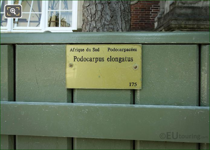 Tourist Information Plaque On Pot 175 In Jardin Du Luxembourg