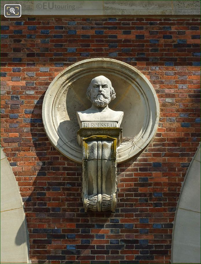 Theodore Rousseau Bust On Orangerie Building