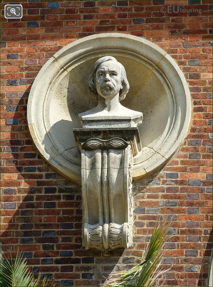 Jardin Du Luxembourg David d'Angers Bust South Facade Orangerie