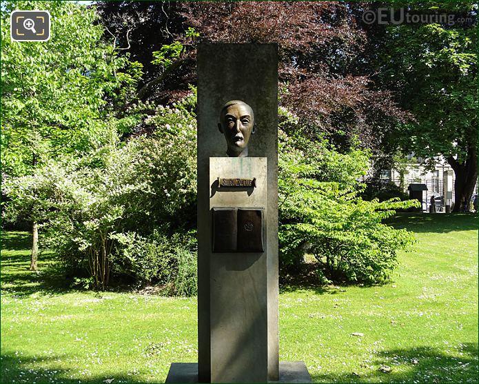 Jardin Du Luxembourg Stefan Zweig  Monument NW Side Of Gardens
