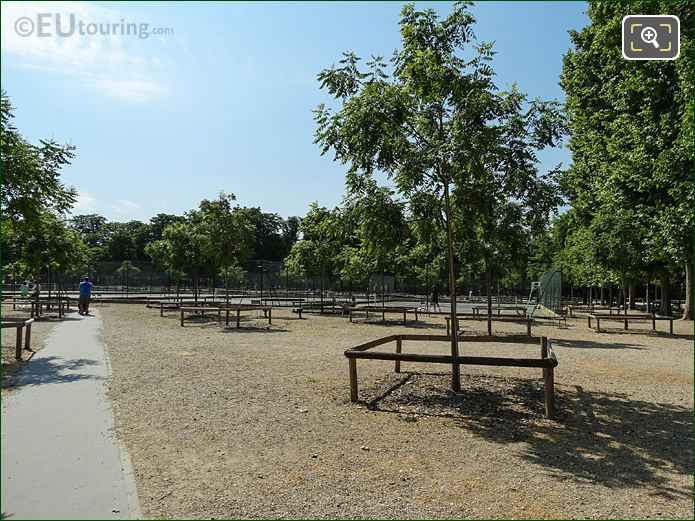 Jardin Du Luxembourg Four Tennis Courts NW Side