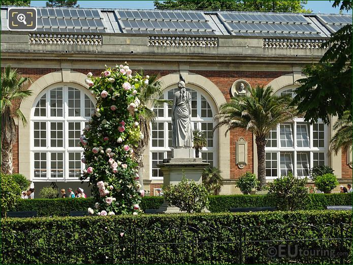 Orangerie Building And Rose Garden In Jardin Du Luxembourg