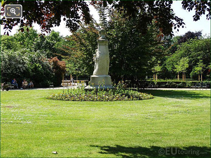 North Side Jardin Du Luxembourg Paul Verlaine Statue