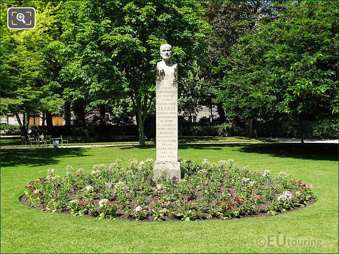 Eastside Of Jardin Du Luxembourg Edouard Branly Monument