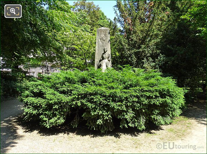 Jardin Du Luxembourg Jules Massenet Monument West Side