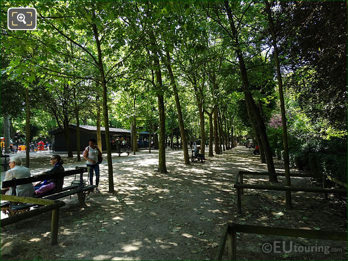 West Side Pathway And Childrens Playground Jardin Du Luxembourg