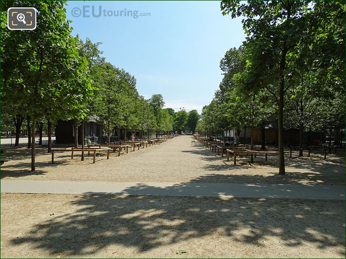 Jardin Du Luxembourg Western Side Central Pathway Looking East