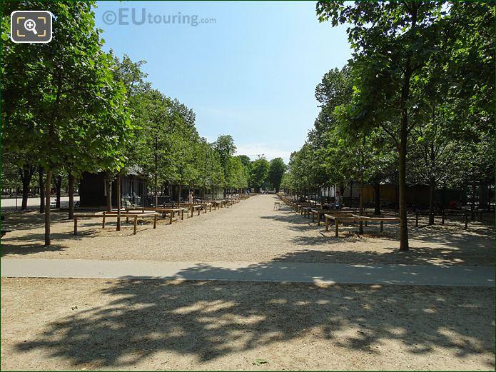 Jardin Du Luxembourg Western Side Central Pathway Looking East