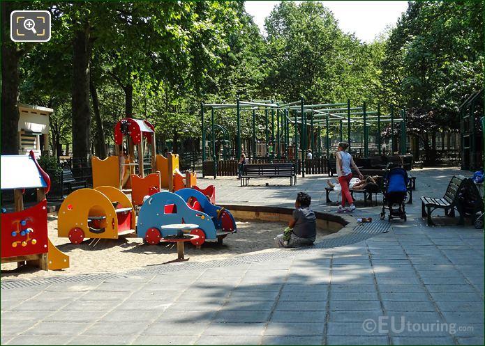 Childrens Playground In Jardin Du Luxembourg Paris