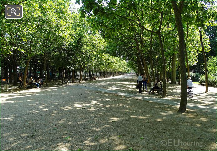 Eastward Down Allee On Western Side Luxembourg Gardens