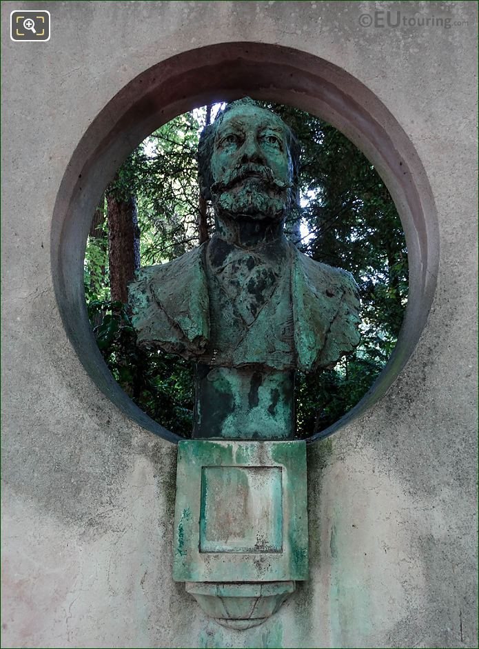 Jardin Du Luxembourg Jose Maria De Heredia Bust South West Side