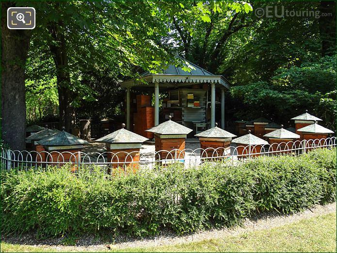 Beehives In Apiary Inside Jardin Du Luxembourg Paris