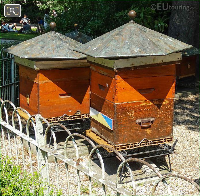 Two Beehives Inside Jardin Du Luxembourg
