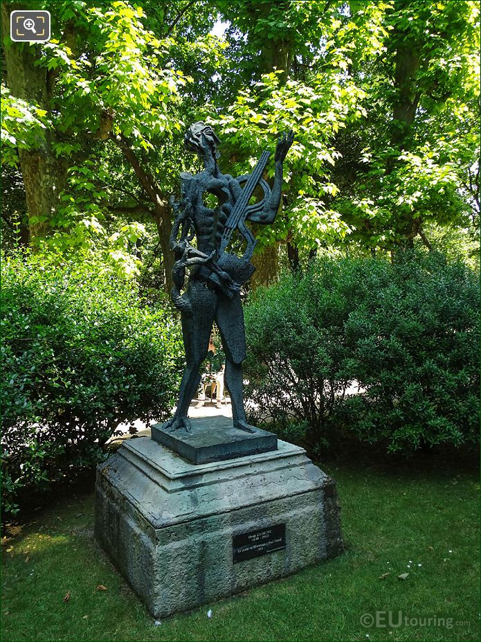 Jardin Du Luxembourg Le Poete Statue South West Side