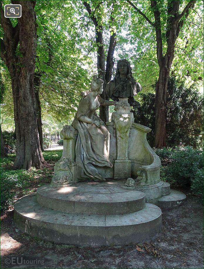 Jardin Du Luxembourg Antoine Watteau Monument SW Corner