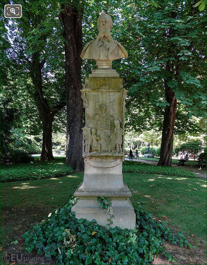 Jardin Du Luxembourg Louis Ratisbonne Monument SW Side