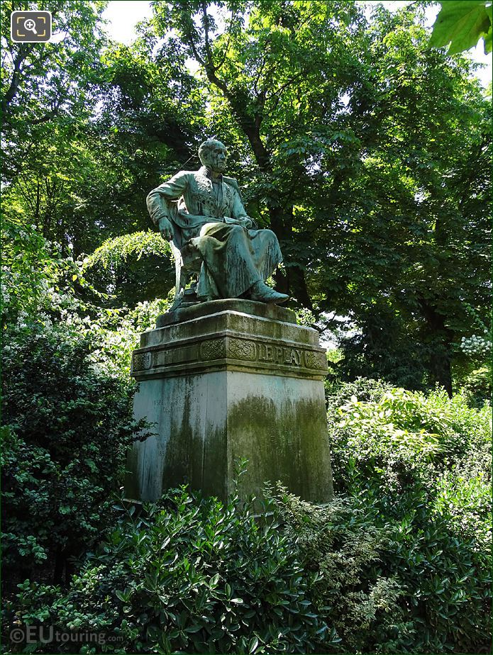 Frederic Le Play Statue In English Garden Section Of Jardin Du Luxembourg