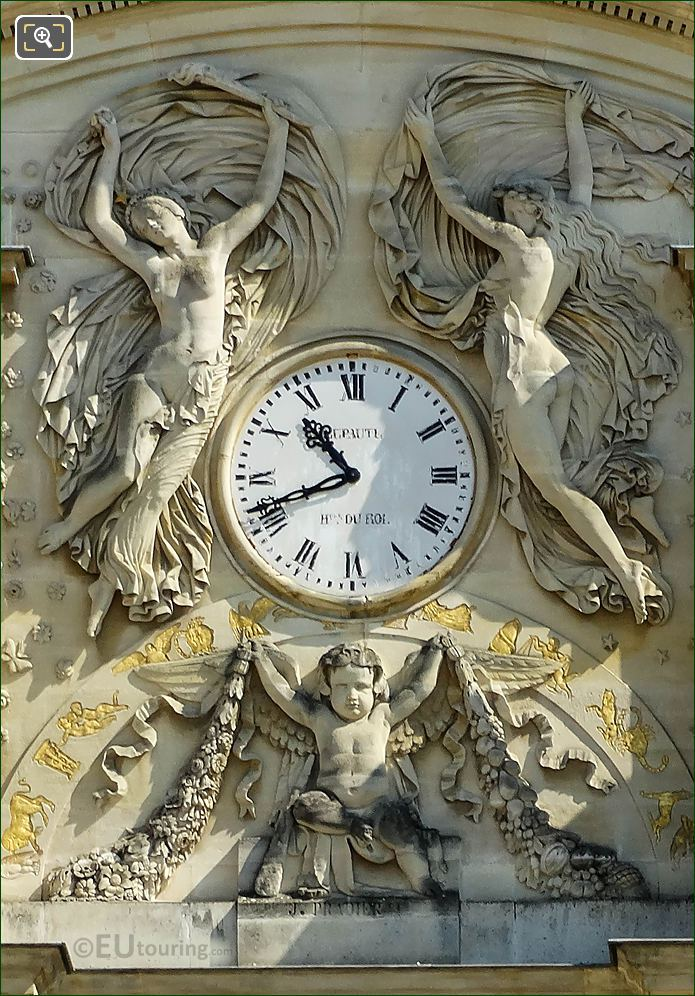 Jardin Du Luxembourg Palace Clock With Reliefs