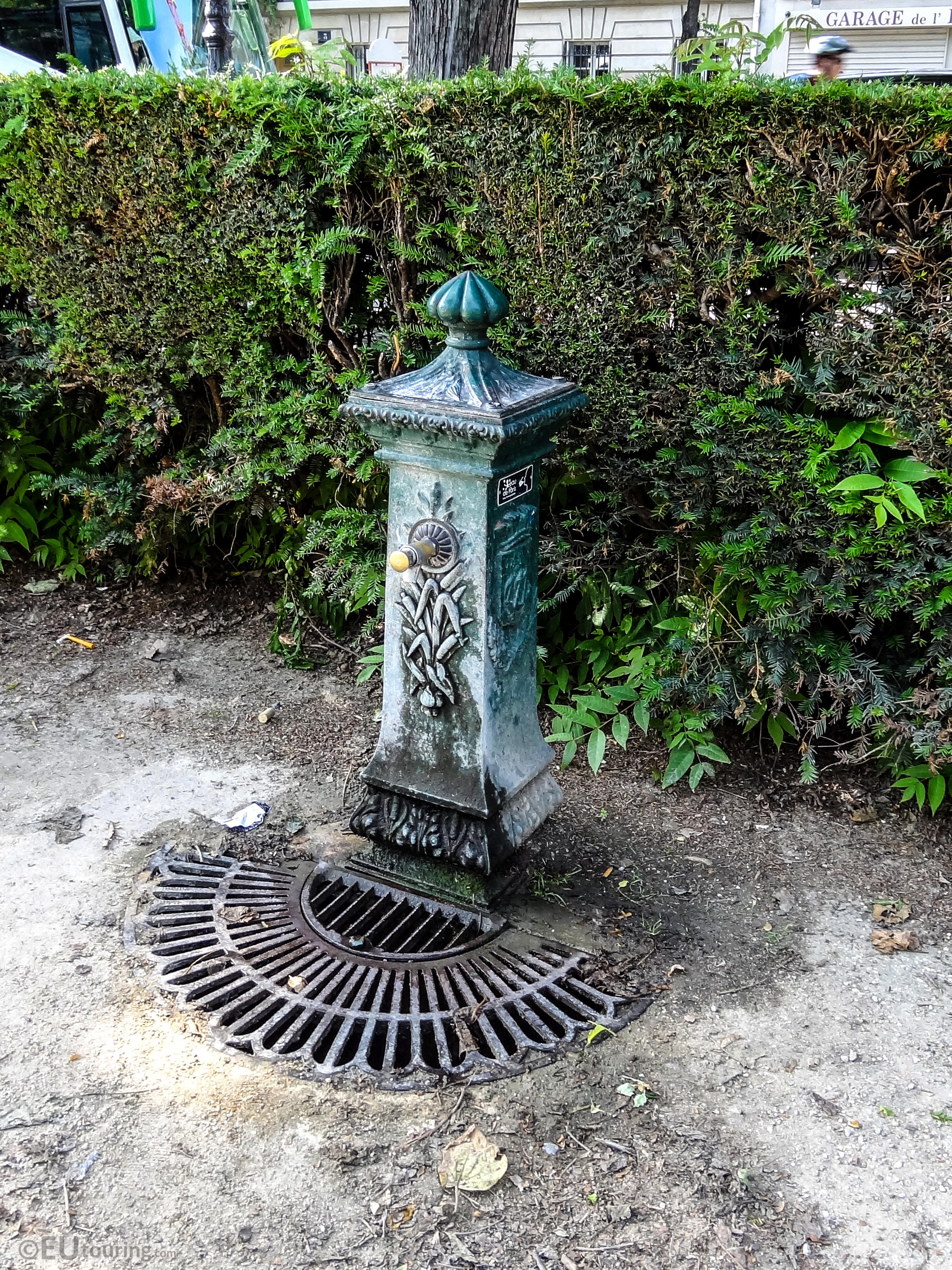 free drinking water fountain inside square barye