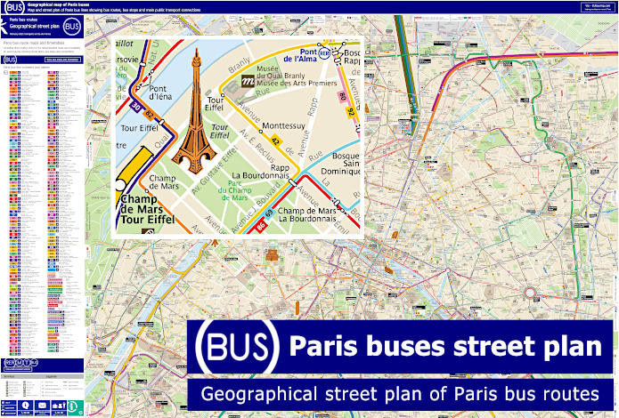 Route Map Of Paris Buses Geo