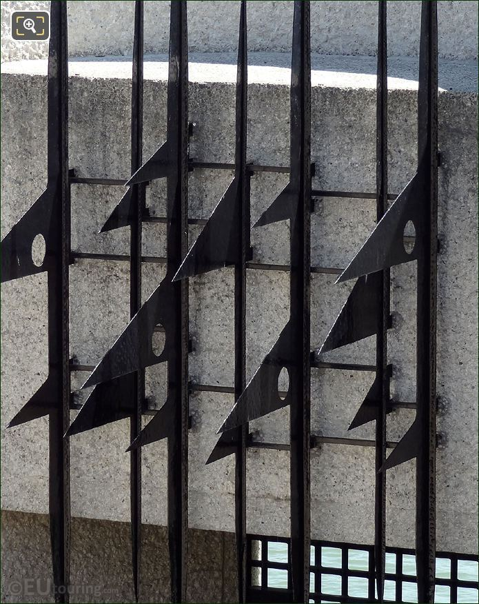 Wrought Iron Bars With Spikes