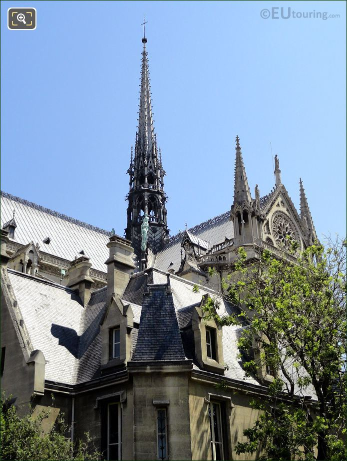 Notre Dame Cathedral South With Its Spire