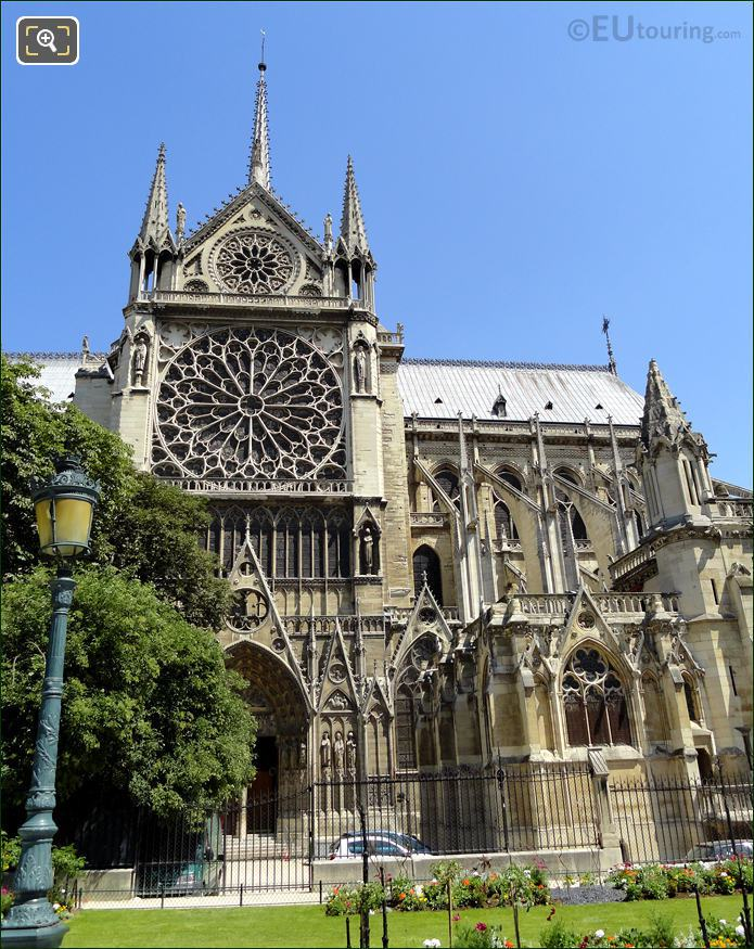 South Rose Window At Notre Dame