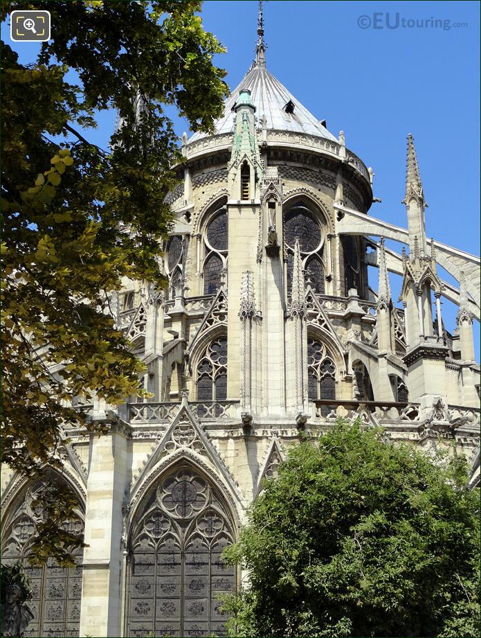 East Side Of Notre Dame Cathedral