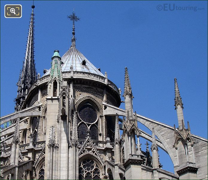 Flying Buttresses On Notre Dame Cathedral