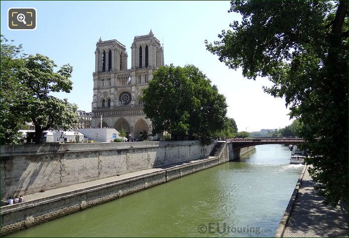 Front Of Notre Dame Cathedral