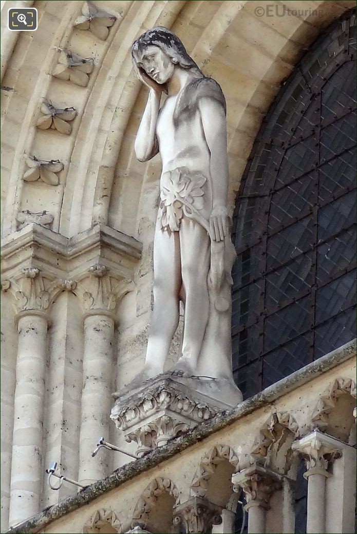 Notre Dame Cathedral Adam Statue