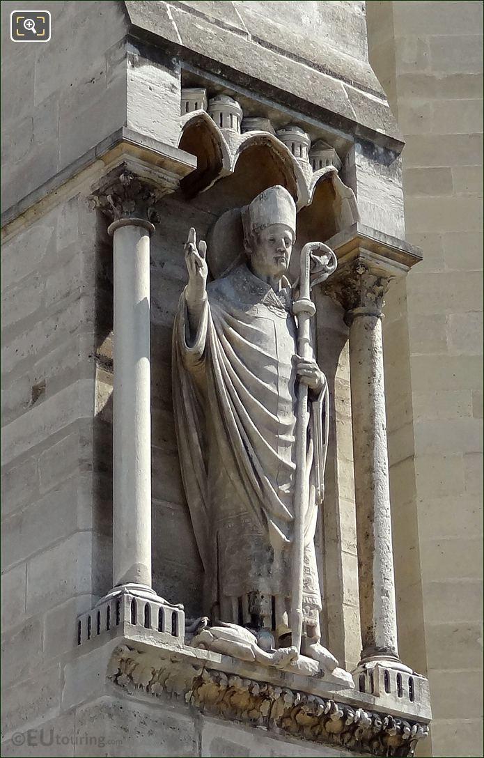 Notre Dame Bishop Sculpture