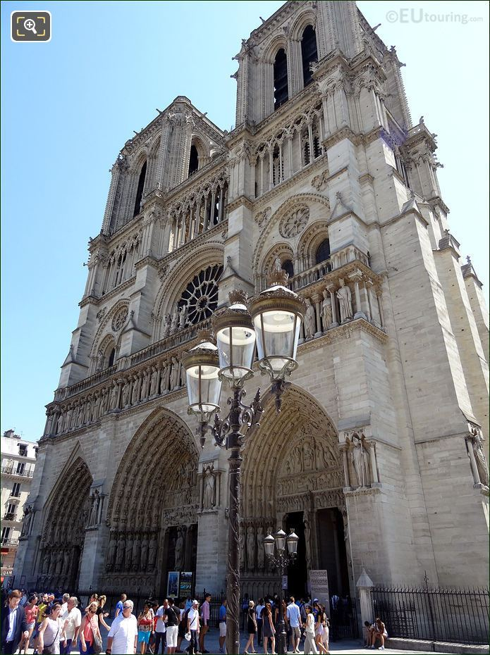 Notre Dame Cathedral Front Facade