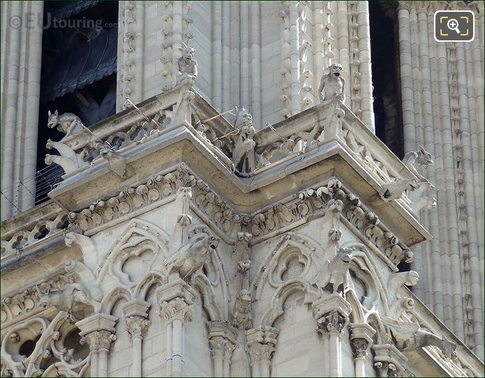Notre Dame Chimeras And Gargoyles Statues