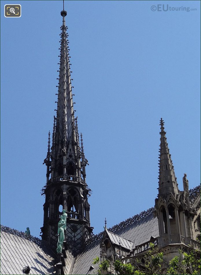 Spire At Notre Dame Cathedral