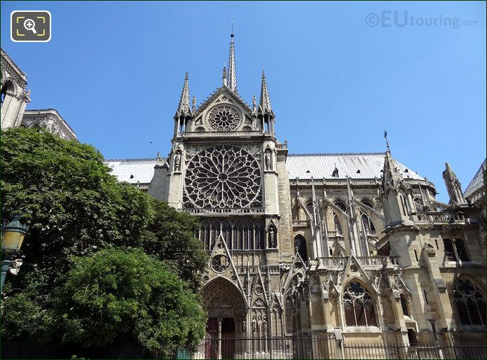 Notre Dames Rose Window And Flying Buttresses
