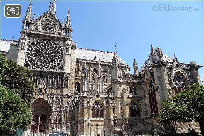 South Facade Of Notre Dame
