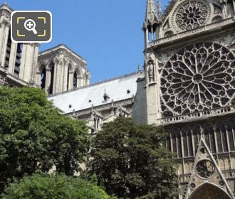 South Side Of Notre Dame Cathedral