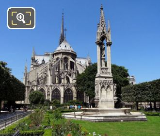 Notre Dame With The Fountain Of The Virgin