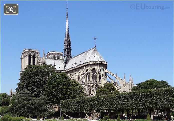 Notre Dame Cathedral And Garden