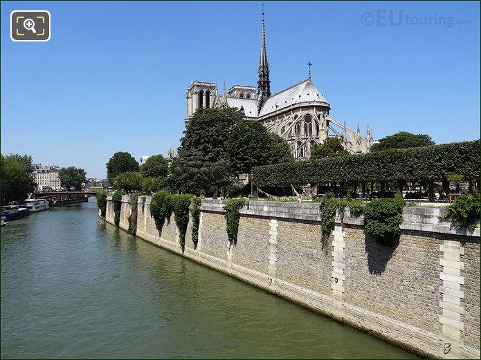 Notre Dame Cathedral And The River Seine