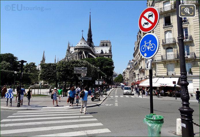 Notre Dame Cathedral From Quai Aux Fleurs